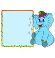 Elephant with message box vector image