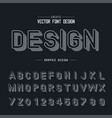 font and alphabet line shadow typeface letter vector image