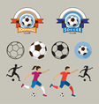 Football or Soccer Player and Graphic Elements vector image vector image