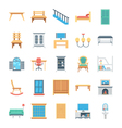 Furniture Colored Icons 7 vector image vector image