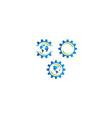 global resource logo icon vector image