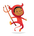 halloween kids costume party african-american boy vector image