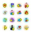 Insurance icons set pop-art style vector image vector image