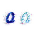 letters q with social networks elements vector image vector image