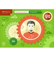 Make IT specialist profession concept vector image
