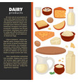 milk dairy products farm food cheese and milk vector image vector image