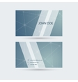 Modern business card template with sparkling lines vector image