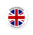 modern made in britain label british sticker vector image vector image