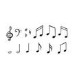 music notes set hand drawn melody vector image vector image