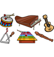 musical objects cartoon set vector image vector image
