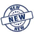new blue grunge round vintage rubber stamp vector image vector image