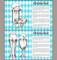 oktoberfest beer objects set hand drawn icons vector image