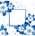 paper cut flowers poster vector image