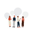 people talk background young man and woman vector image