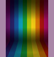 rainbow colored wall with floor background vector image vector image