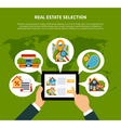 Real Estate Selection Concept vector image vector image