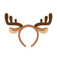 Reindeer horns vector image vector image