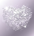rose papercut vector image vector image