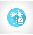 Round blue wedding MC flat icon vector image vector image