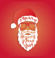 santa claus with lettering merry christmas vector image vector image