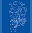 scooter outline concept vector image