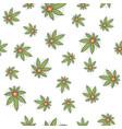 seamless texture medical marijuana five vector image vector image