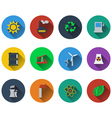 Set of energy icons in flat design vector image vector image