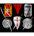 Set of shields and swords vector image vector image