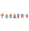set robot character androids monsters cyborgs vector image