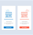 shop online market store building blue and red vector image vector image