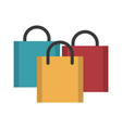 shopping bags icon image vector image vector image
