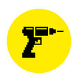 silhouette of a drill and screwdriver flat pixel vector image
