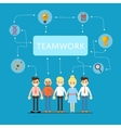 Social network and teamwork banner vector image