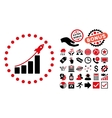 Startup Sales Flat Icon with Bonus vector image vector image