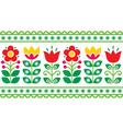 Swedish floral retro pattern - folk art vector image