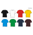 t shirt colorful vector image vector image