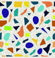 terrazzo seamless pattern colorful patterned vector image vector image