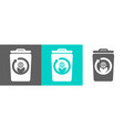 trash bin element with globe outline icon vector image vector image