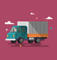 truck delivery vector image vector image