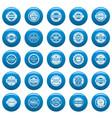 vintage badges and labels icons set blue vector image