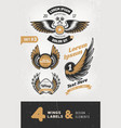 vintage labels badges text and design elements vector image vector image