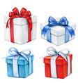 watercolor hand drawn gift boxes vector image