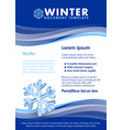 winter document template vector image