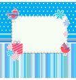 Winter frame with cute birds and snowflakes vector image