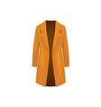 woman brown coat vector image vector image