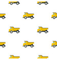 yellow dump truck pattern flat vector image vector image