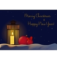 Christmas New Year Decorations background for vector image