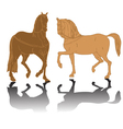 horses silhouettes vector image