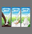 a set labels for milk vector image