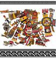 Aztec god vector image vector image